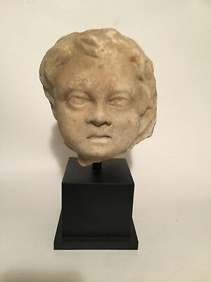 *Aphrodite Gallery* Roman Marble Head of a Youth, ca. 2nd Century A.D.