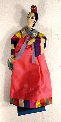 Vintage hand-made cloth/gauze/cheesecloth/newspaper Thailand doll~1960-1962