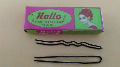 Vintage Hallo Hair Pins New, 3 Boxes, qty 10 pins in each box.