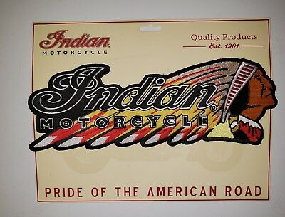 """11.5"""" INDIAN MOTORCYCLE WARBONNET LARGE PATCH..Iron On..FAST FREE SHIPPING!"""