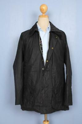 Mens BARBOUR Beaufort WAXED Jacket Navy Size 44