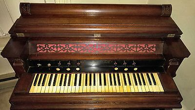Antique Circa 1880 George Woods Electrified Organ Piano, Beautiful & Works!