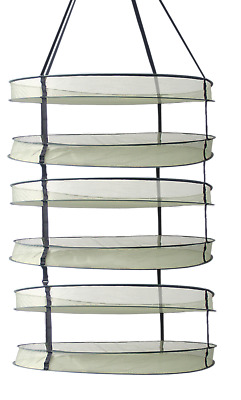 New Drying Rack for Plant Herb Bud Heavy Duty Hanging Dry Shelf Net (Six Tier)