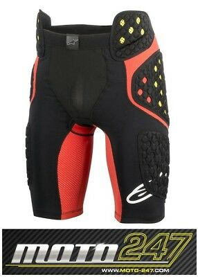 Alpinestars Sequence Pro Adult Motocross Mx Enduro Padded Shorts Black / Red