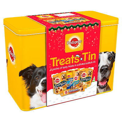 Pedigree Dog Treat Tin Gift Christmas Selection Multipack Dentastix Chew Tasty