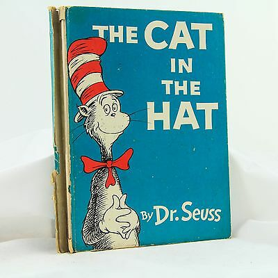 """'THE CAT IN THE HAT"""" -  Dr. Seuss - 1957 Original Vintage Hard Cover"""