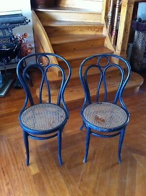 "Antique Bentwood Chairs  "" Jacob & Josef Cohn "" Austrian Unrestored With Labels"