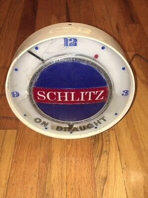Schlitz Motion Beer Sign Clock Cad 82 81 Picclick Ca