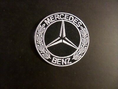 mercedes benz siver & black Embroidered 3 x 3 Iron Or Sew On Patch