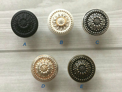 Knob Dresser Drawer Pulls Cabinet Knob Black Antique Silver Bronze White Gold