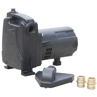 Heavy Duty Cast Iron 0.5-HP Transfer Utility Pump with Reinforced Suction Hose