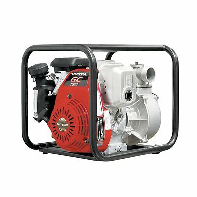 Red 5-HP Cast Iron Recoil Start Utility Transfer Pump with 26-ft Suction Lift