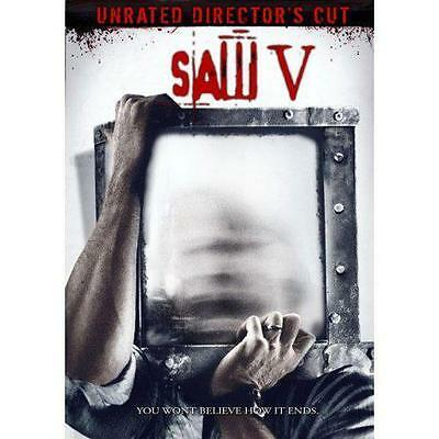 "Saw V (DVD, 2009, Unrated Director's Cut), ""Eliminate all loose ends!"""