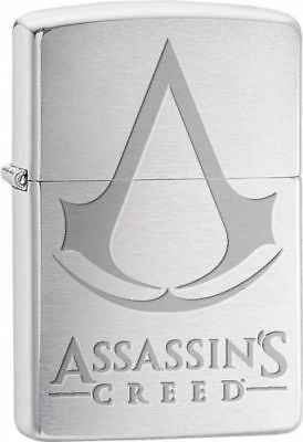 Zippo Windproof Chrome Lighter With Assassins Creed Logo, 29494, New In Box