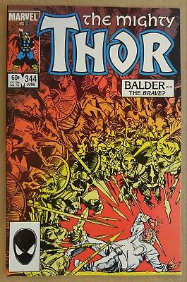 "**Thor #344** RAGNAROK MOVIE!! PLANET HULK! 1st APPEARANCE ""MALEKITH""!! SIMONSON"
