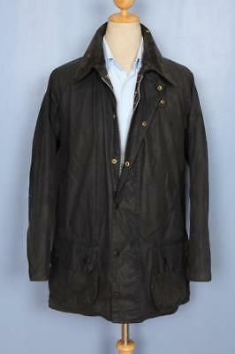 Mens BARBOUR Beaufort WAXED Jacket Navy Size 42