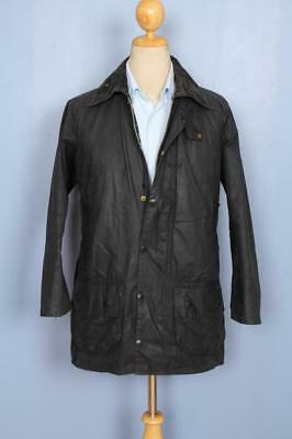Mens BARBOUR Beaufort WAXED Jacket Navy Size 36