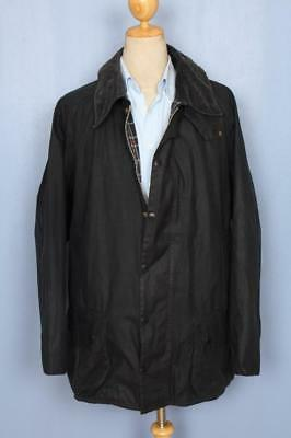 Mens BARBOUR Beaufort WAXED Jacket Navy Size 50