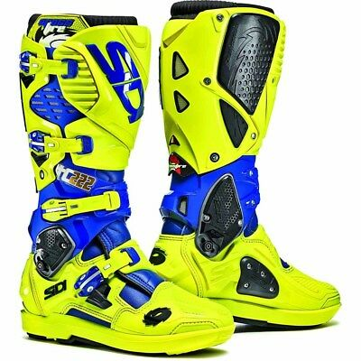Sidi NEW Mx LE Crossfire 3 SRS Cairoli Blue Fluro Motocross Dirt Bike Boots