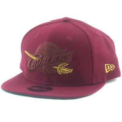 Cleveland Cavaliers New Era NBA 9Fifty Hat Genuine Baseball Cap In Maroon Pop
