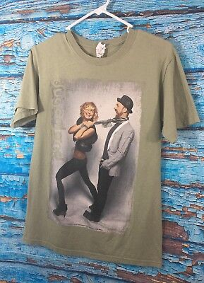 Sugarland The Incredible Machine 2011 Concert Tour OLIVE Graphic T Shirt SMALL
