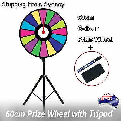 60cm Colour Fortune Prize Wheel Folding Tripod Floor Stand Spinning Game Carniva