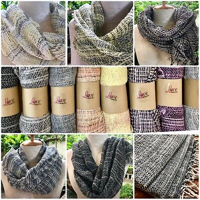 NEW Multi Color Thai Organic Cotton Soft Hand Woven Scarves - Ladies Accessories