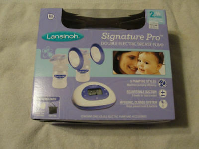Lansinoh Signature Pro Double Electric Breast Pump BPA Free BRAND NEW!