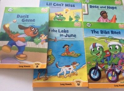 LEAP FROG READER Books X 5 TAG Softcovers