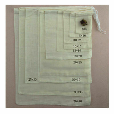 "100 Pack Cotton Muslin Drawstring Bag Soap Herbs Tea Reusable Packing Bath 3""x4"""
