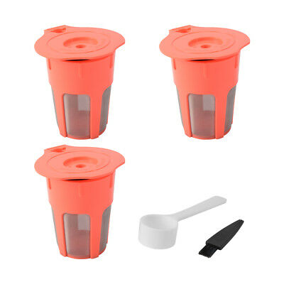 3x Refillable Reusable Coffee Filter Capsule Pods for Keurig 2.0 K-Carafe HS1036
