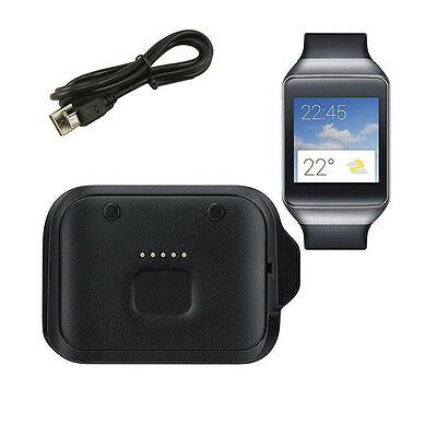 Black Charging Cradle Dock Charger For Samsung Galaxy Gear Live R382 Smart Watch