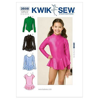 Kwik Sew K3508 Leotards Sewing Pattern Size 8 10 12 14 1320