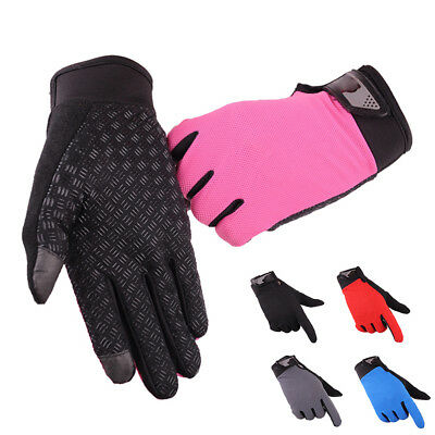Mens Full Finger Gloves Exercise Cycling Fitness Gym Sport Workout Gloves Cloth