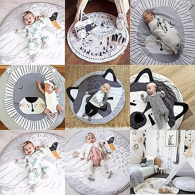 UK Soft Cotton Baby Game Gym Activity Play Mat Crawling Blanket Floor Rug Gift