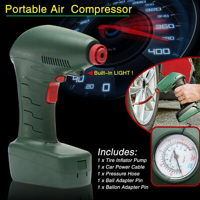 Auto Car Bike Handheld Portable Air Compressor Tire Inflator Pump Emergency Tool