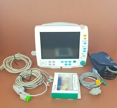 Ge Datex Ohmeda S5 Light Patient Monitor+Ecg,Sp02,Nibp Hose+Cuff Datex Ohmeda