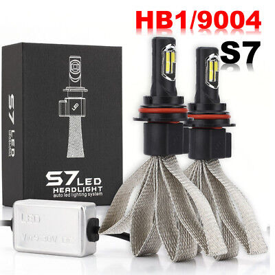 9004 HB1 LED Headlight Kit Fanless 72W 8000LM Bulb White Hi-Lo Beam 6000K
