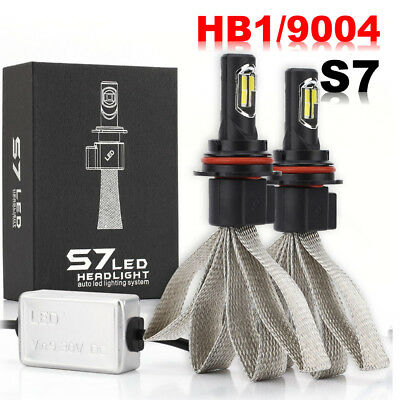 2X 9004 HB1 LED Headlight Conversion Kit Bulbs Hi/Lo Beam 6000K 72W 8000LM