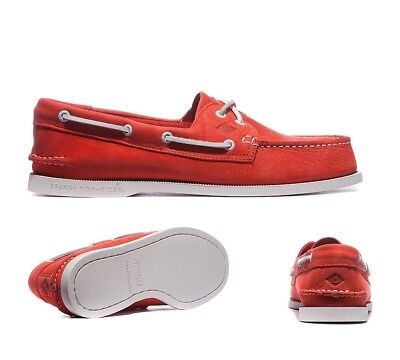 Mens Sperry A/O 2 Eye Washable Coral Boat Shoes .RRP £89.99 (PF16)