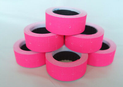 2-100 Rolls PINK 12x21mm Price Labels for MX5500 and other single line price gun