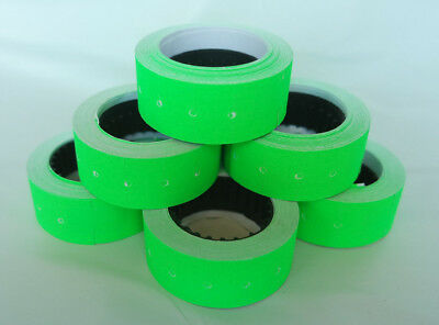 2-100 Rolls GREEN 12x21mm Price Labels for MX5500 and other single line guns