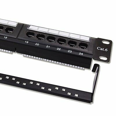 Hot! Cat6 Utp 24 Port Network Lan Patch Panel 1U 110 With Cable Management Ma6