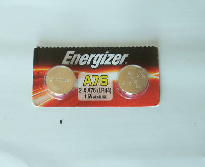 2x Energizer A76 / LR44 / AG13 Alkaline Batteries 1.5V, Expire 06/2020 or later