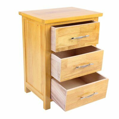 London Oak Bedside Table / Light Oak Bedside Cabinet / Solid Wood / Brand