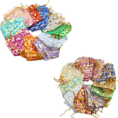 Organza Gift Bags Pouch Small Medium Large Jewellery Wedding Favour Bag UK