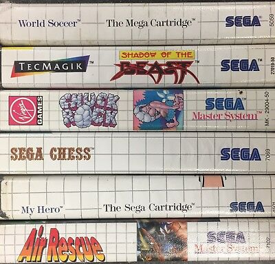 SEGA MASTER SYSTEM Games  Please Select From List ** FREE FAST POSTAGE **