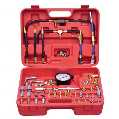 Fuel Injection Injector Pressure Test System Kit Tester Compression Car Tool Set