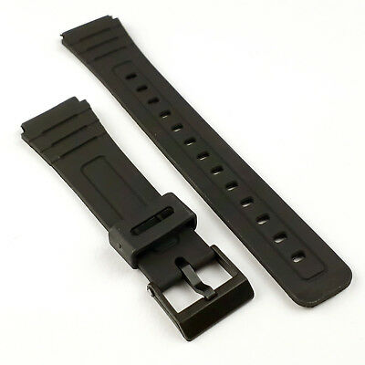 Casio 18mm Watch Strap Replacement Fits F91 F94 F105 Black FREE P&P