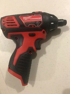 "New Milwaukee 2401-20 M12 1/4"" Hex Screwdriver Bare Tool (Updated Model) 12V"